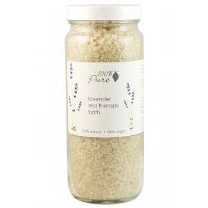 Natūrali levandų ir jūros dumblių terapinė druska voniai
