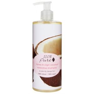 Medaus ir Kokosų atstatantis šampūnas (390ml)